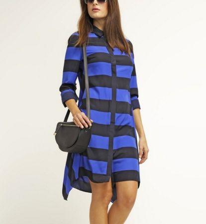Karen Millen Sukienka koszulowa w paski blue/multi