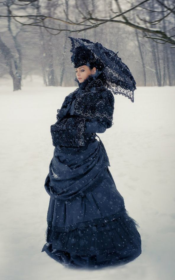 Victorian Winter Gothic Costume by BlackMart.deviantart.com on @DeviantArt