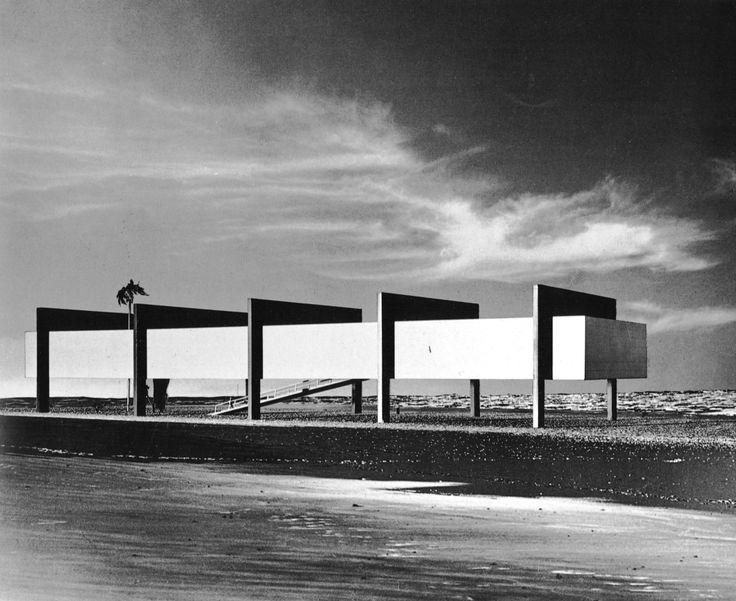 Museum on the Seashore, Brazil, 1951 (Project) (Lina Bo Bardi)