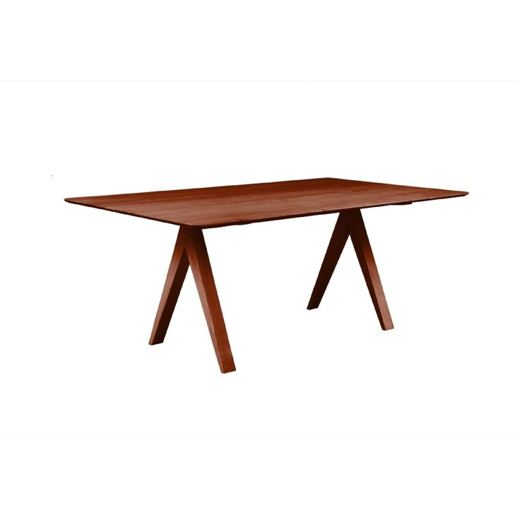 Saloom Soma 42 x 72 Rectangular Maple (Brown) Smooth Top Dining Table in Harvest Finish (Harvest)