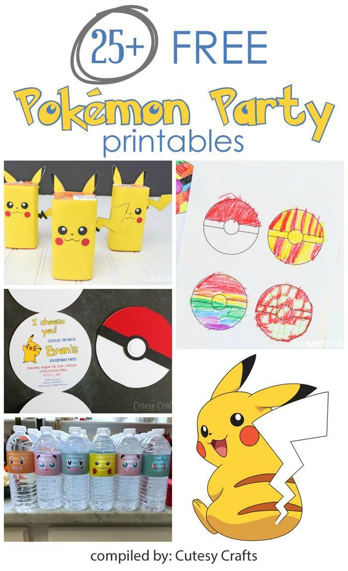 25+ Free Pokemon Party Printables