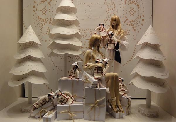 Ideas de decoración de escaparates para Navidad