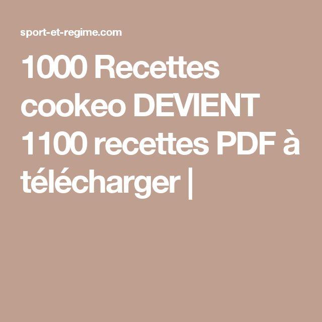 Les 25 meilleures id es de la cat gorie recette cookeo pdf - Telecharger recette de cuisine algerienne pdf ...