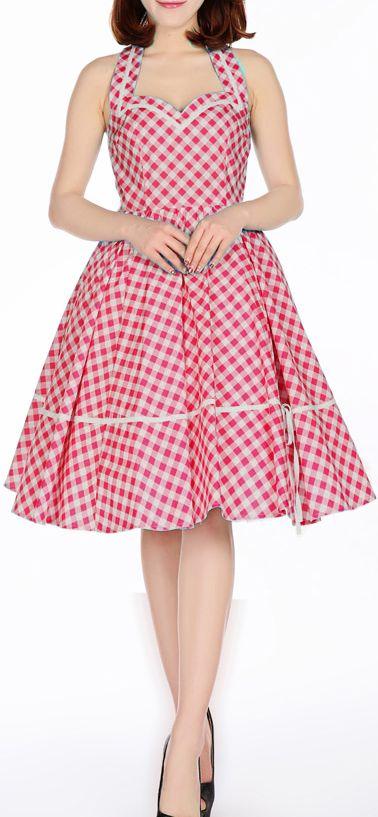 50s Sweet-heart ghingham Dress by Amber Middaugh ...