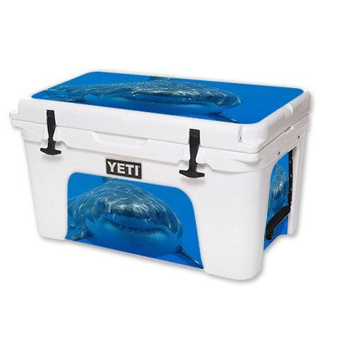 Skin Decal Wrap for YETI Tundra or Roadie Cooler 20 qt 45 qt 65 qt cover sticker Shark