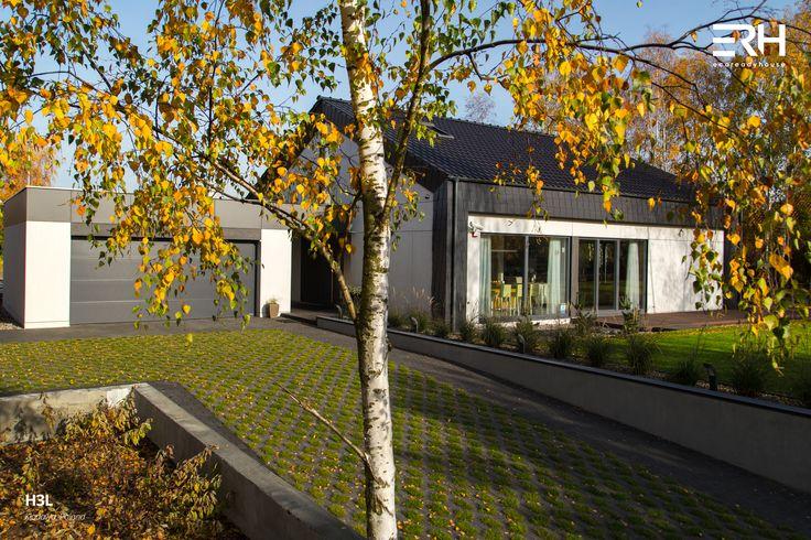 House H3L in Kłodawa, Poland #architecture #design #modernarchitecture #dreamhome #home #house #passivehouse #energysavinghouse  #modernhome #modernhouse #moderndesign #homedesign #modularhouse #homesweethome #scandinavian #scandinaviandesign #lifestyle  #nature #autumn #ecoreadyhouse #erh