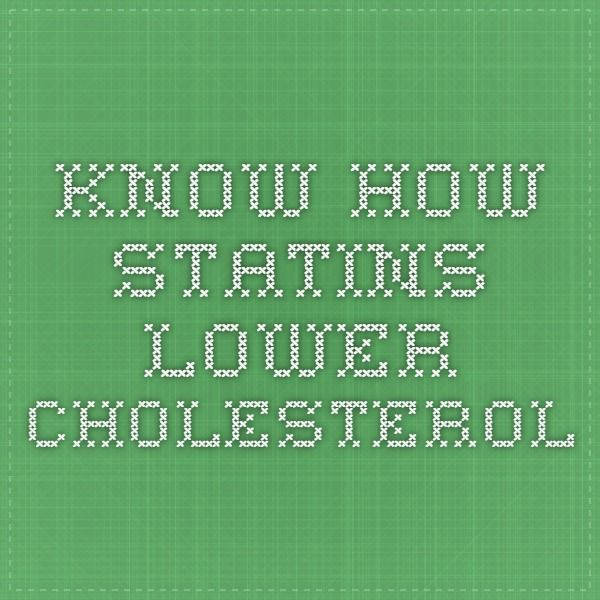 Know how statins lower cholesterol