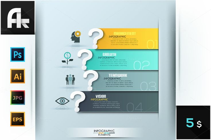 Questions Infographic Template by AndrewKras on @creativemarket