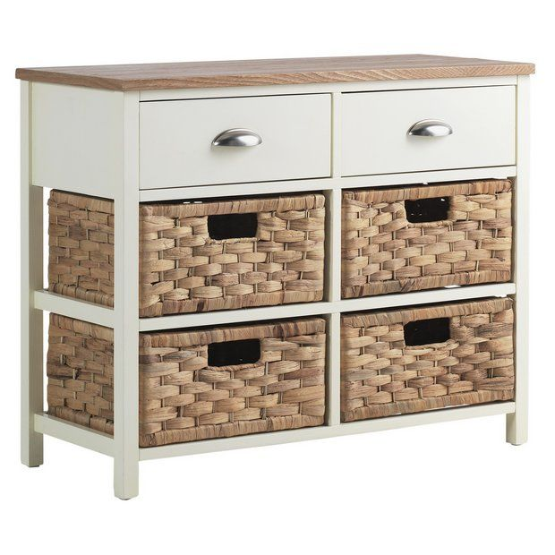 Buy Collection Addington 6 Drawer Hallway Unit - Cream at Argos.co.uk - Your Online Shop for Storage units, Storage, Home and garden.