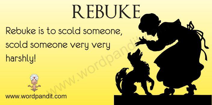 Rebuke definition