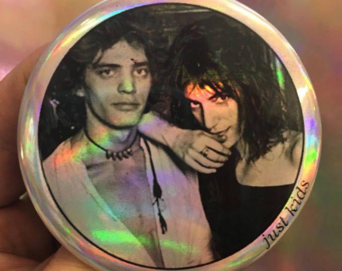 """PATTI SMITH net kinderen Robert Mapplethorpe verslaan literatuur New York City 70s CBGB punk dichter jonge kunst liefde 2,25"""" holografische knop Opmaakprofiel"""
