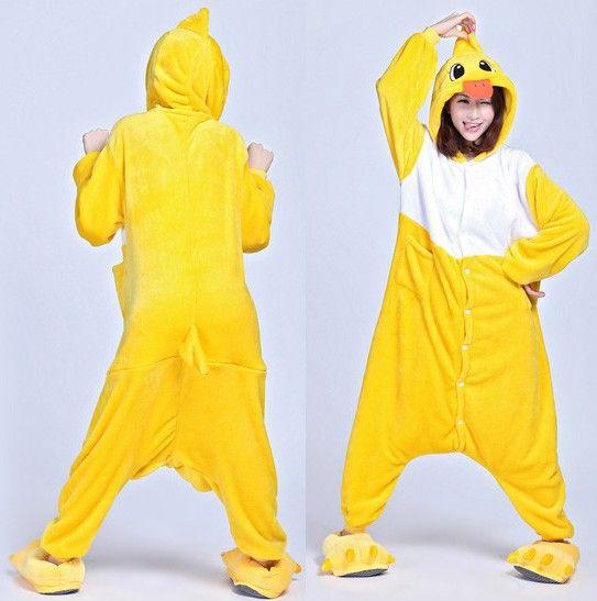 $32.69  Animal Kigurumi Cute Yellow Duck Unisex Onsies Hoodie Pajamas Costume