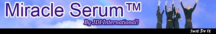JDI™ Three In One™ Miracle Serum™      Can provide immediate pain relief to sore joints and muscles  Can be applied multiple times daily as required to sore areas  Can invigorate scalp to stimulate hair follicles for growth  Can decrease hair loss from splitting  Can act as a grooming aid for hair and increase sheen  Can refresh face upon application  Can provide face with a firming tone  Can be used for each purpose individually or all at same time  No odor, No staining  Easy to dispense