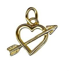 Charm - ARROW THROUGH HEART - Sterling SIlver or 9ct Gold