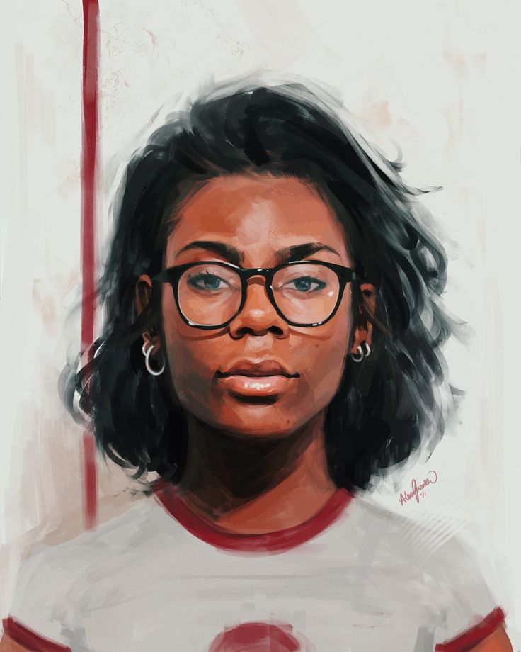 Awesome #digital self-portrait by Alexis Franklin  #portraitart #digitalart