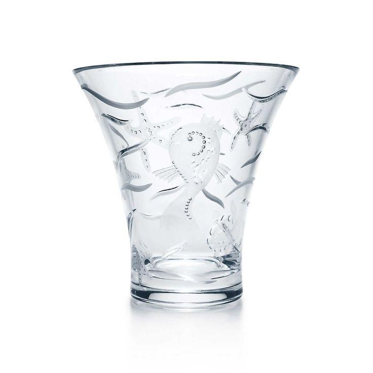 William Yeoward Mediterine flared vase in crystal.