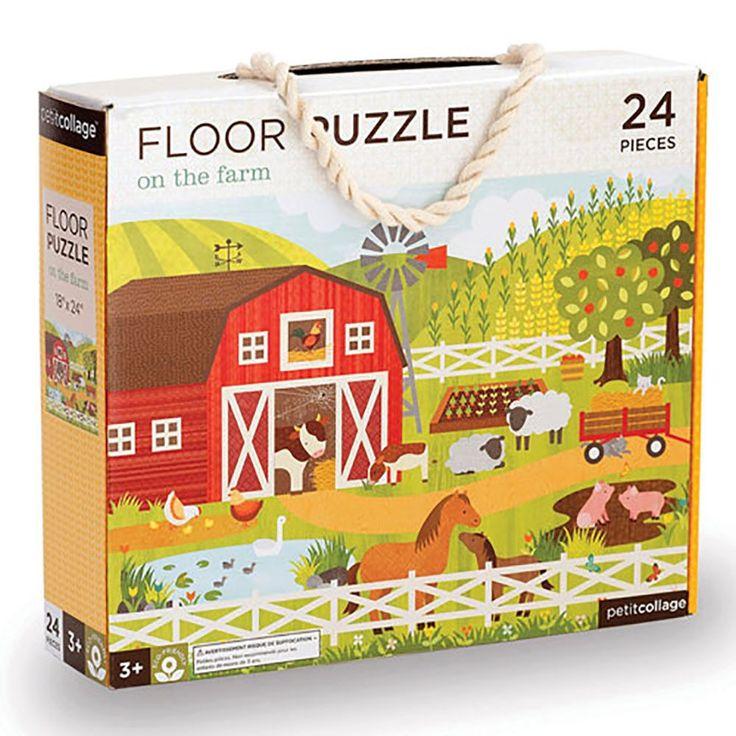Podlahové puzzle - Petitcollage - Na farmě - 24 dílů