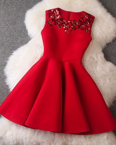 Prom Gown,Lovely Cute Prom Dress,Red Sexy Prom Dress,Prom
