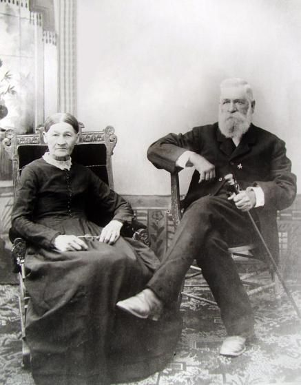 Nick and Virginia Earp, parents of the Earp brothers posing for a photo when celebrating their 50th wedding Anniversary.