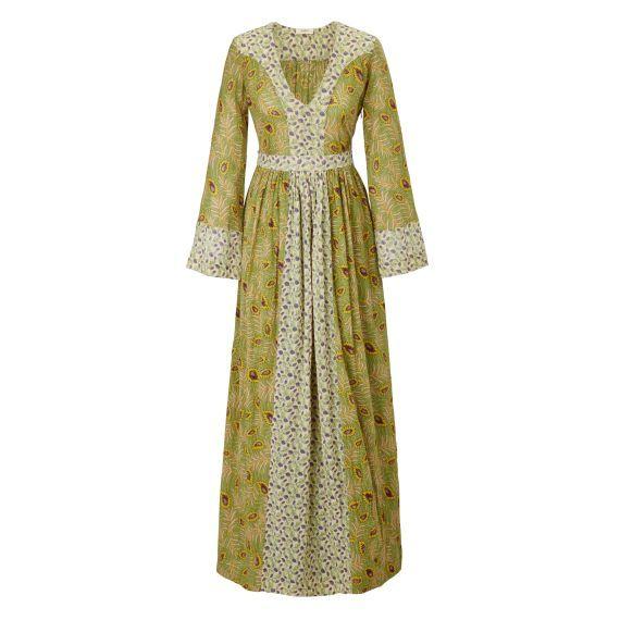 Happy Hippie! Diese Kleid macht uns glücklich. Maxidress mit zwei verschiedenen floralen Allover-Prints