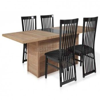 Set Meja Makan Minimalis Jati | Indo Furniture