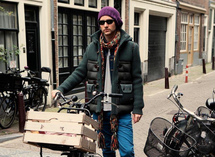 MAN COLLECTION F/W 14-15 | Bark™ knitwear down dufflecoat
