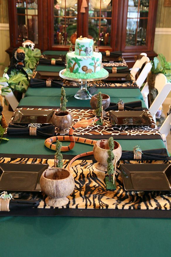55 best images about animal theme on pinterest - Deco table jungle ...