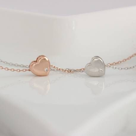 a floating rose gold or sterling silver necklace. the perfect ift to show someone you love them