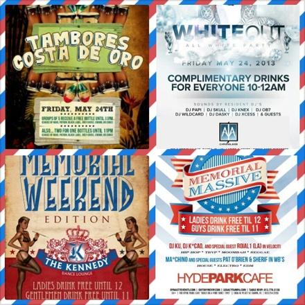 memorial weekend plans