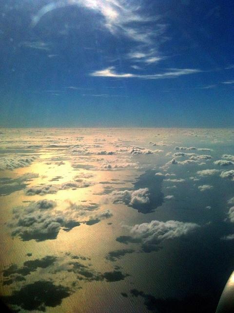 Flying over the Aegean Sea, via Flickr.