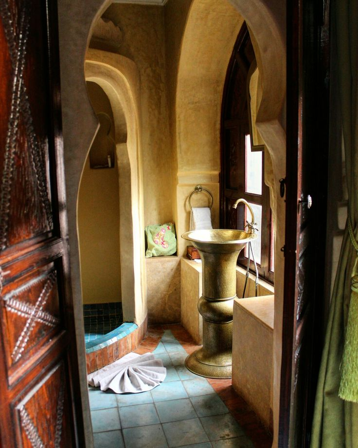 Traditional Moroccan bathroom.