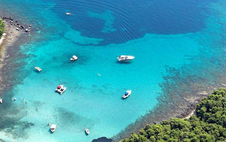 Beach on the island of Hvar in Croatia