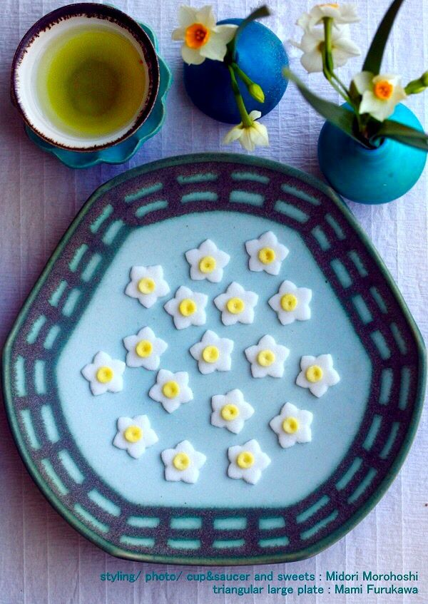 和菓子【水仙の干菓子(うんぺい)〜dry confectionery(Unpei) 】 Japanese dry confectioneries…