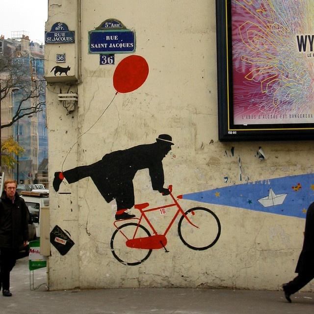 Paris mural by Mollivan Jon, via Flickr