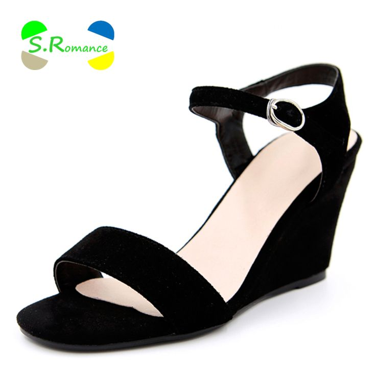 Women Sandals Genuine Leather Nubuck Sheepskin High Heel Wedges New Stylish Buckle Strap Woman High Quality Shoes SS233-in Women's Sandals from Shoes on Aliexpress.com | Alibaba Group