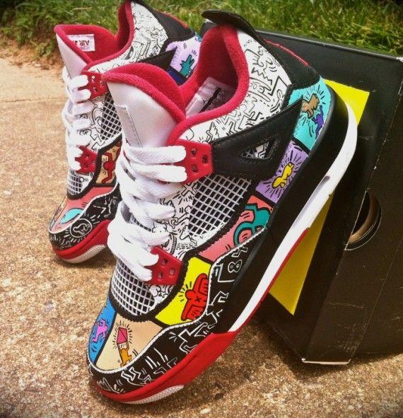 "Air Jordan IV ""Keith Haring"" by District Customs | SneakerFiles"