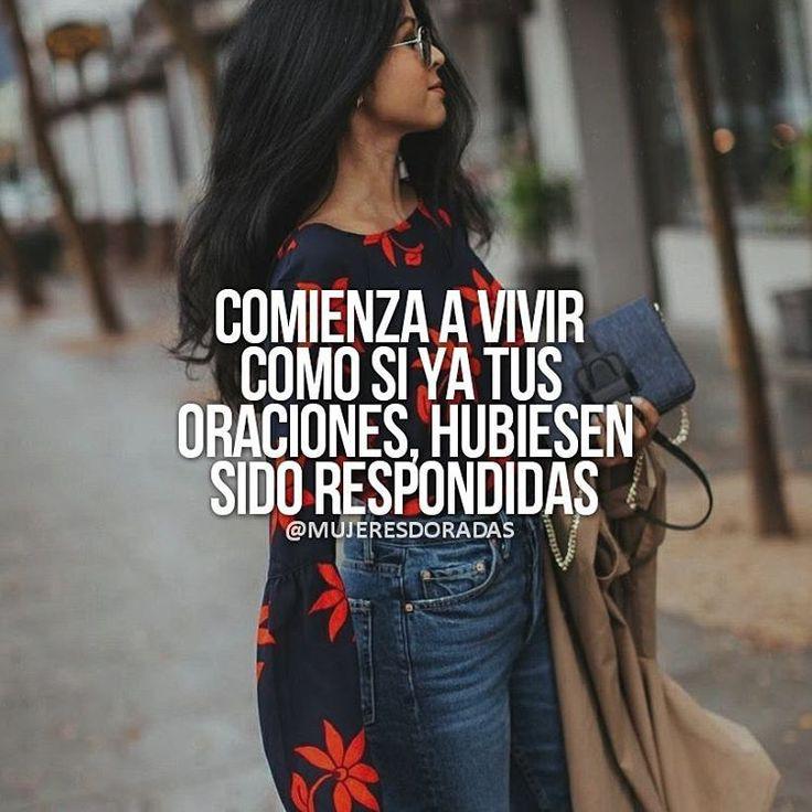 """2,843 Me gusta, 12 comentarios - MUJERES DORADAS (@mujeresdoradas) en Instagram: """"@mujeresdoradas Vive como si ya lo tuvieras, Vive ahora❤ #mujerdorada #soymujerdorada #motivacion…"""""""