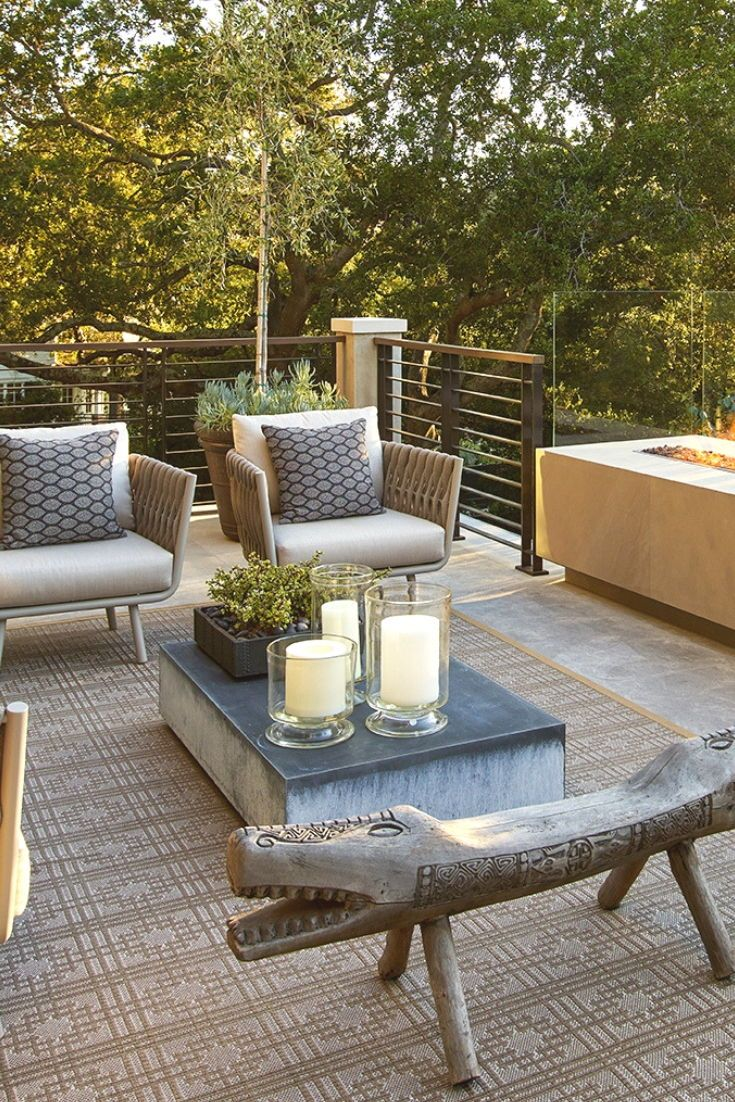 Outdoor Living Room With Fireplace Asian Antiques And Jane Et Cie