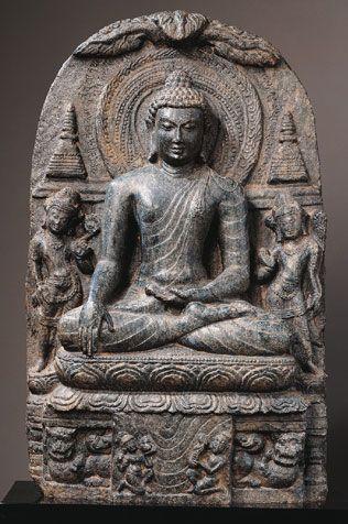 Buddha Shakyamuni  India, Bihar; Pala period (c.8th - 12th century), late 9th - early 10th century