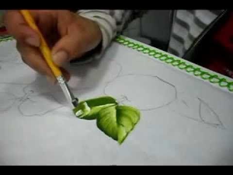 ▶ Pintura em tecido - vídeo aula de folhas - YouTube