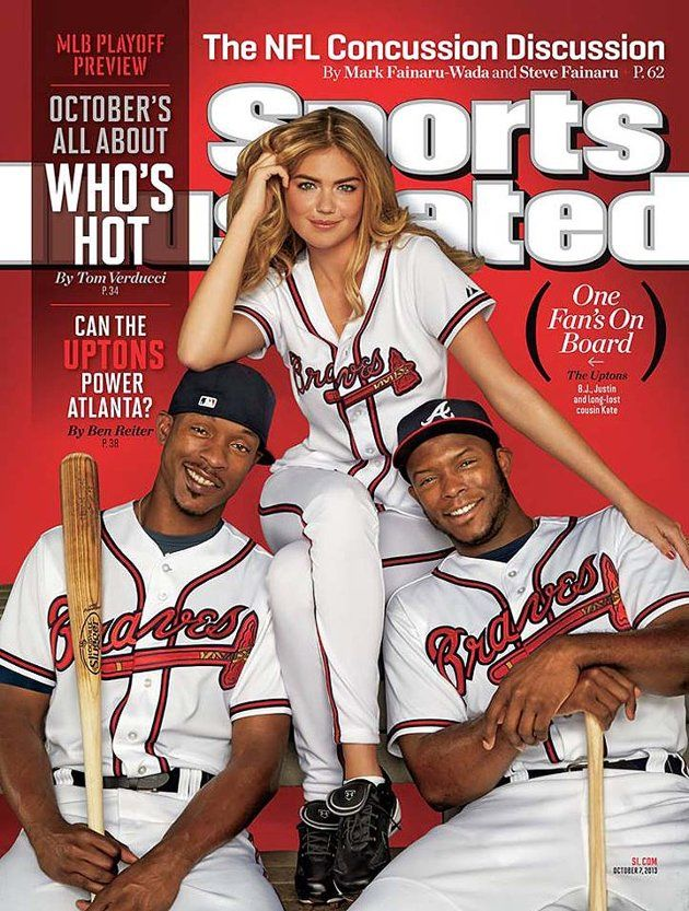 Kate Upton joins Braves B.J. Upton and Justin Upton on Sports Illustrated cover (finally!)