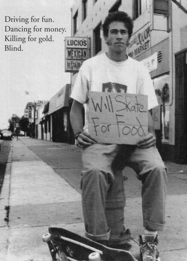 Blind Skateboards Jason Lee ad from the early 90's i had a couple of his decks, i adored Blind & New Deal sk8 videos too
