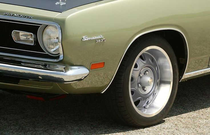 Vintage rims for plymouth barracuda
