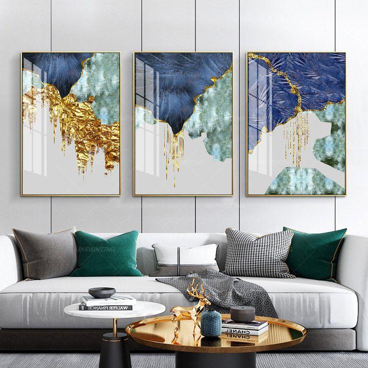 Park Art My WordPress Blog_Blue And Gold Wall Art Canvas