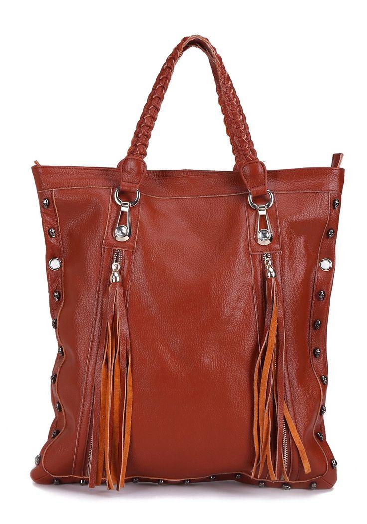 Unique Tan Classic Brown Large Tote Bag Shopper Handbag Messenger