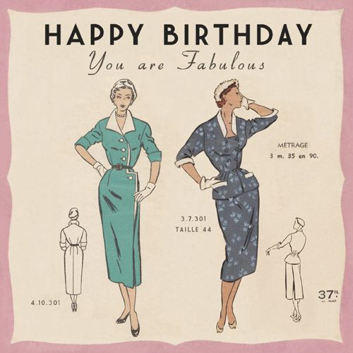 Paris Fashion Birthday Card Price