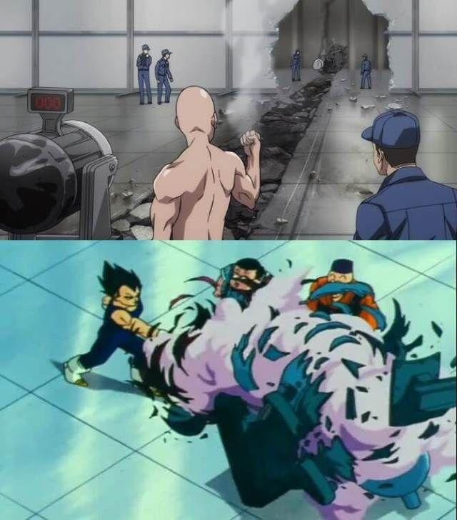 One Punch Man vegeta e saitama