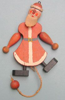 Antique Christmas Ornaments Wooden Antique Ornaments and Figures