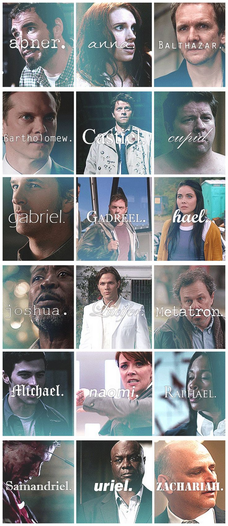 Angels #Supernatural.  I don't like that they used Sam for Lucifer and John W. for Michael, though.
