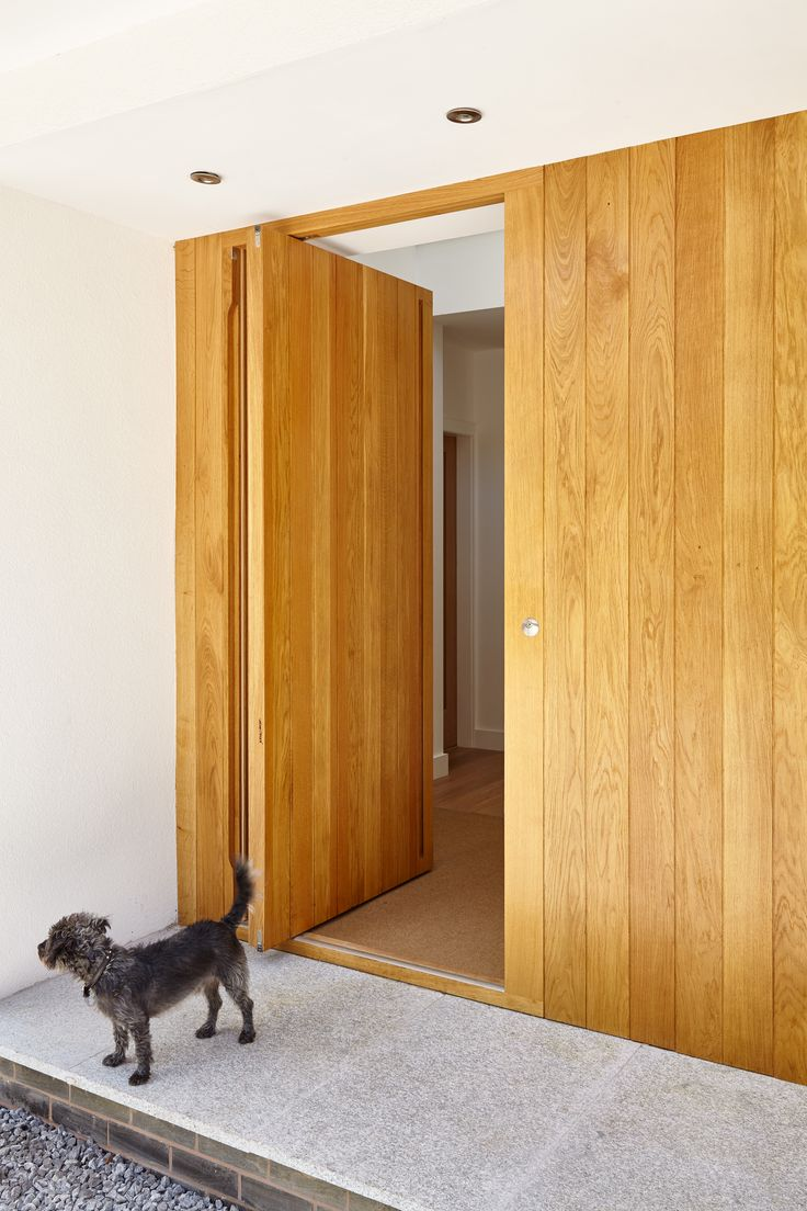 46 best our doors images on pinterest contemporary front doors the flush porto pivot doorset in european oak was supplied at a standard size of 12 contemporary front doorsmodern front rubansaba